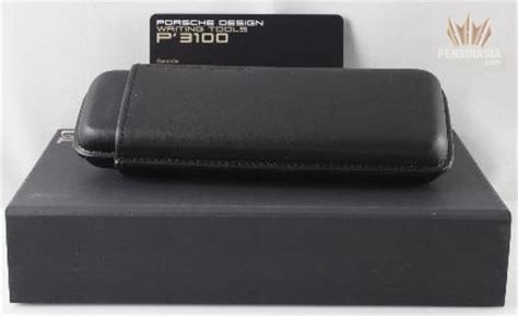porsche design 6649 black leather pensinasia writing instruments products