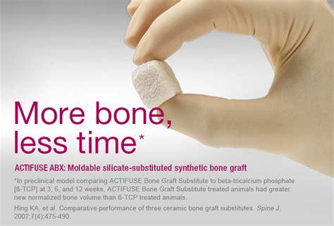 ceramic bone graft actifuse bone graft substitute more bone less time