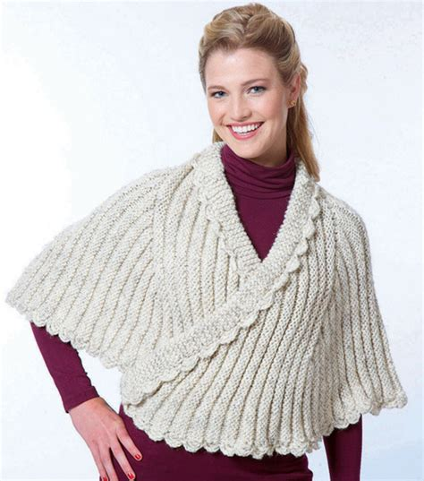 knit cape more capes to knit 13 free patterns grandmother s