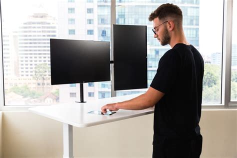autonomous standing desk this ai standing desk really just has a touchscreen