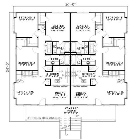 multi unit home plans traditional multi unit house plans home design ndg506