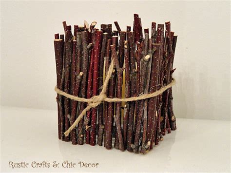 crafts with branches rustic crafts chic decor