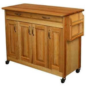 catskill craftsmen 44 in enclosed butcher block kitchen