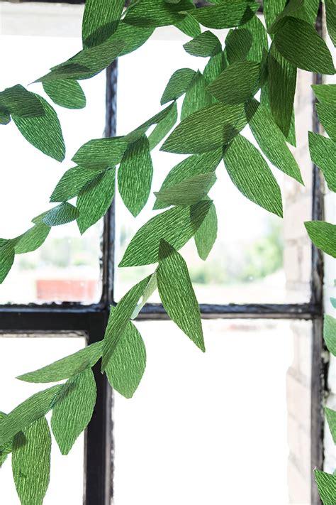 green garland diy paper leaf garland the house that lars built