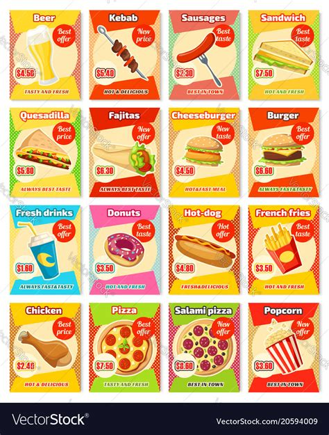Fast Food Menu Card Templates by Fast Food Restaurant Menu Card Template With Price