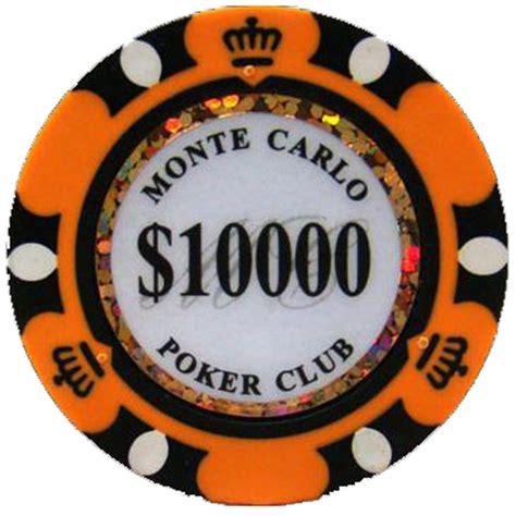 orange monte carlo poker chips  chip
