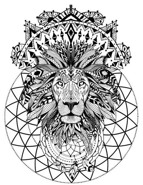 the 25 best ideas about mandala lion on pinterest