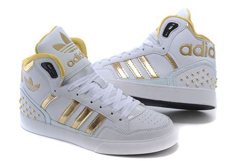 top quality adidas originals high tops white gold s s casual shoes m22886