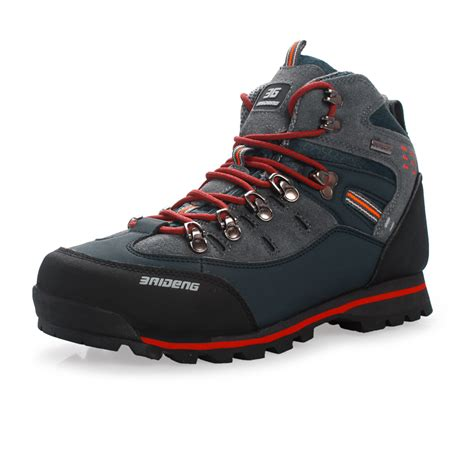 high top climbing shoes high top waterproof hiking shoes mountain climbing