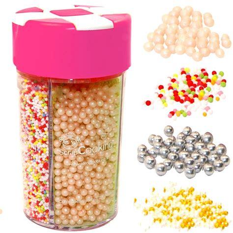 4 dcors en sucre multi perles pour gteaux dcoration