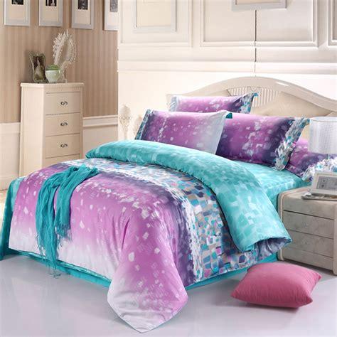 Purple And Aqua Bedding by Aqua Blue And Light Purple Modern Chic Geometric Pattern