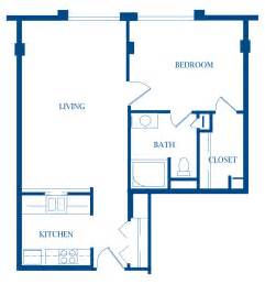 Floor Plan For 1 Bedroom House by Apartments 187 Presbyterian Manor