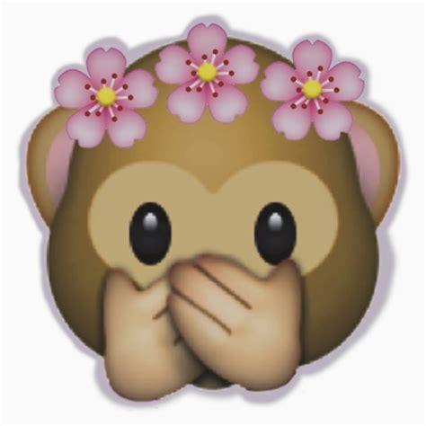 flower design emoji monkey with flower crown emoji
