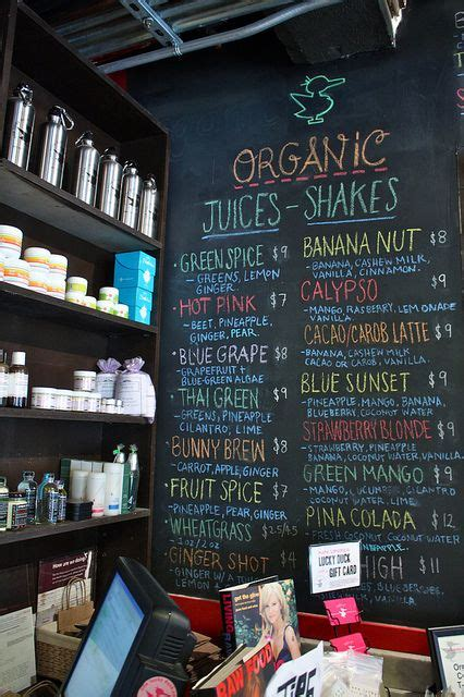 Detox Bar Menu by Best 25 Juice Bars Ideas On