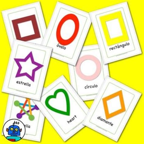 printable spanish shapes flash cards 17 best images about spanish flash cards and clip art on