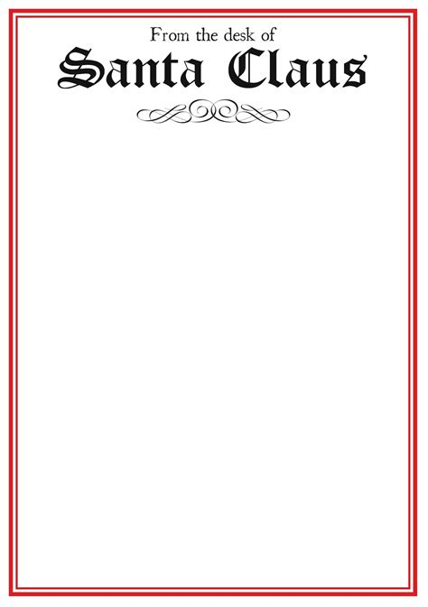 letter to santa template free printable black and white best photos of letter from santa stationary template