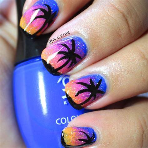 nail art tutorial palm tree palm tree at night nail art tutorial qtplace polish