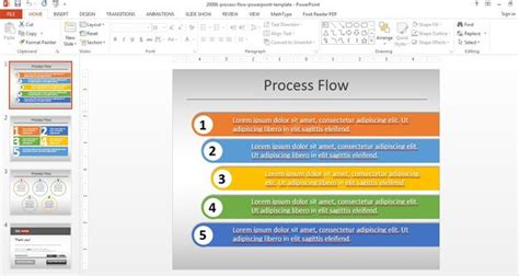 Simple Process Flow Template For Powerpoint Powerpoint Template Process Flow