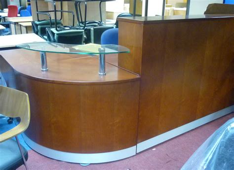 used reception desks curve reception desks used office furniture glasgow