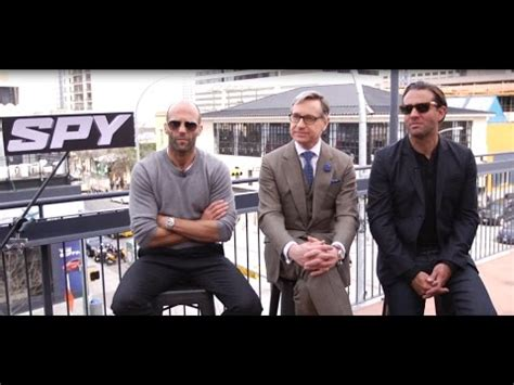 jason statham uj film spy interview jason statham director paul feig and