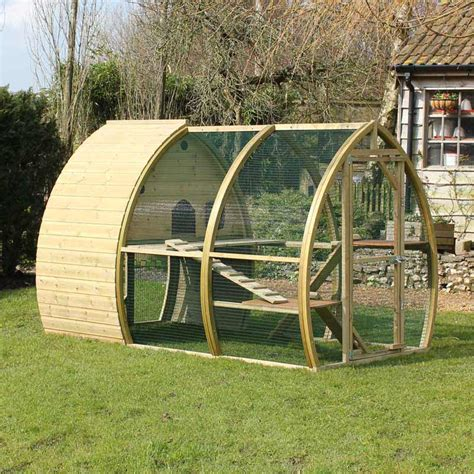 the cat house the 6ft arch cat house and run luxury cat house made in uk by framebow
