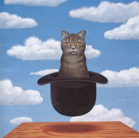 paint like cat in the hat cat in a hat rene magritte painting magritte