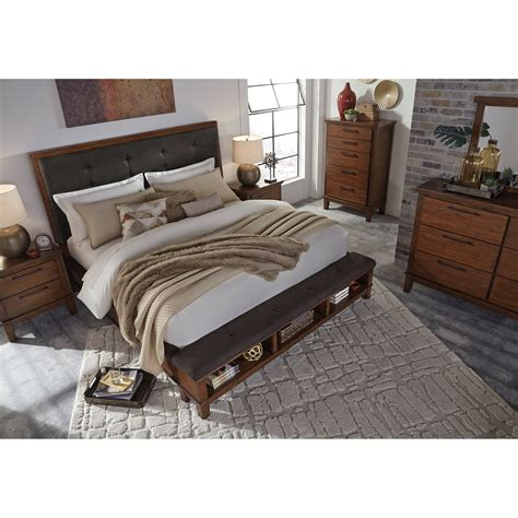 upholstered bed with footboard queen upholstered bed with bench storage footboard by