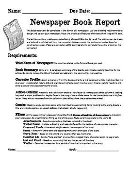 newspaper book report 43 best images about newspaper pbl on