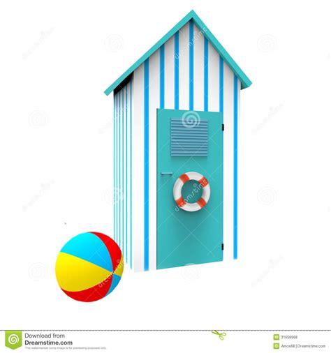 cabina da spiaggia cabina della spiaggia illustrazione di stock