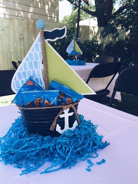18 Boys Baby Shower Centerpieces You Ll Like Shelterness Nautical Baby Shower Centerpiece Ideas