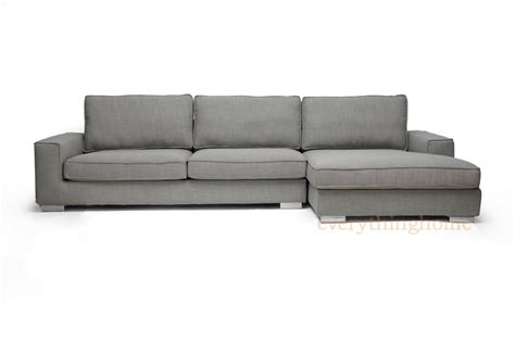 Gray Sectional Sofa With Chaise New Modern Gray Fabric Sectional Sofa Chaise Grey Adjustable Back Rest Designer Ebay