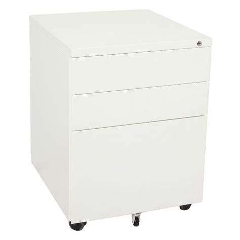 Mobile Pedestal Drawers by Rapidline 3 Drawer Mobile Pedestal White