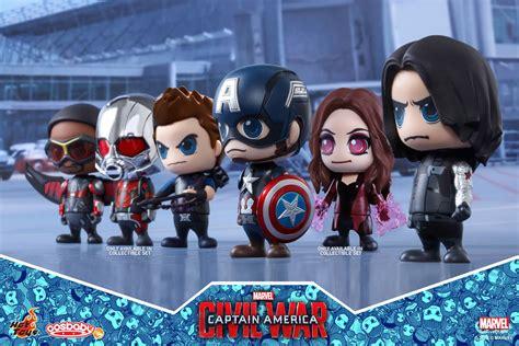 Toys Cosbaby Team Iron Marvel Captain America 3 Civil War captain america civil war cosbabys announced diskingdom disney marvel wars