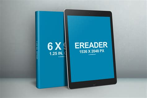 ebook template psd 6 x 9 book with ereader promo psd template covervault