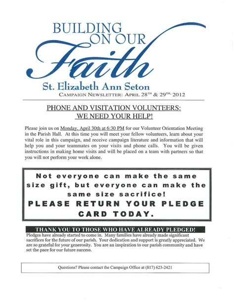 pledge card template for church church pledge form template best professional templates