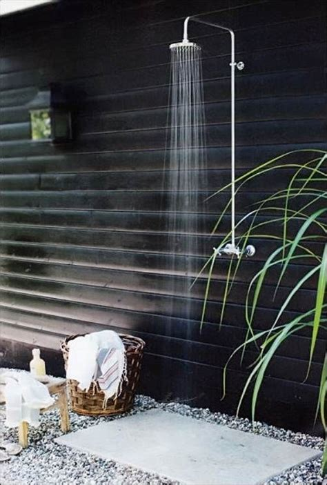 simple outdoor shower pin by triick on zen garden
