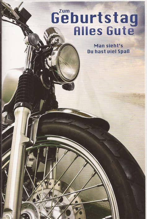 Motorrad Bilder Zum Geburtstag geburtstagskarte zum geburtstag motorradfahrer