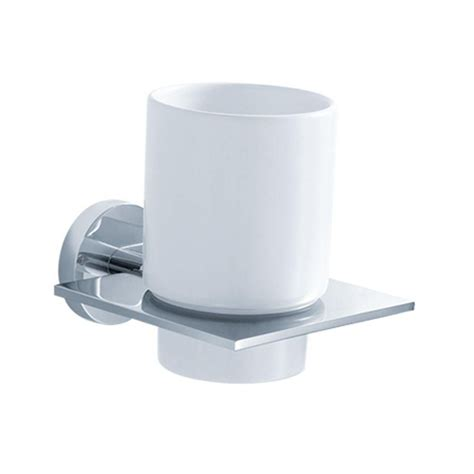 kraus imperium bathroom accessories wall mounted ceramic tumbler holder the home depot canada