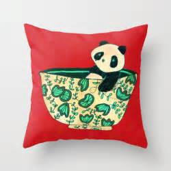 Pillow Sets Dinnerware Sets Panda In A Bowl Throw Pillow By Picomodi