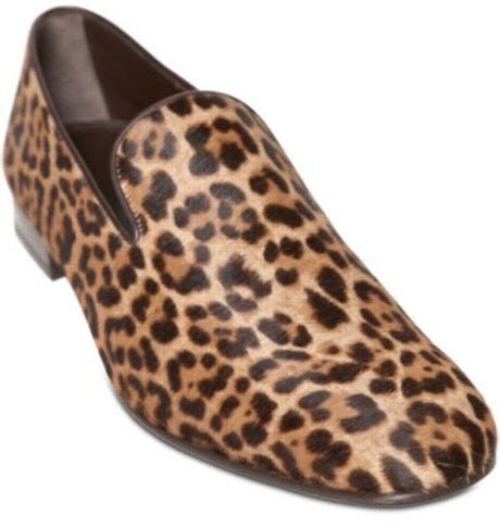 mens leopard print loafers laurent leopard print pony skin loafers in animal