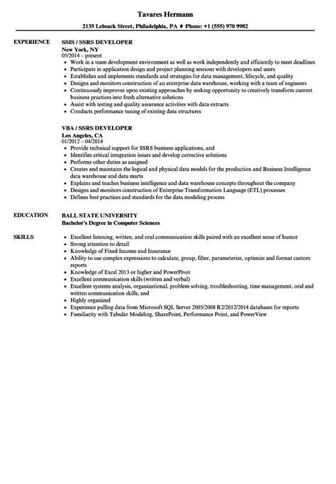 ssrs resume exles ssrs sle resume arts administration cover letter