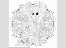 animal mandala coloring pages for adults ... Eagle Coloring Pages Free
