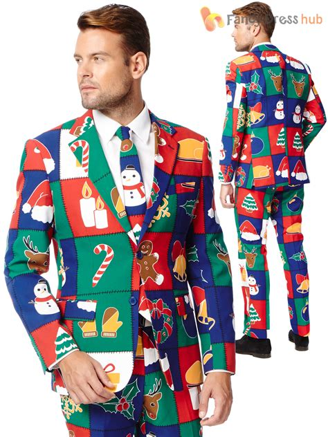 christmas green mens dress shoes mens deluxe opposuit festive oppo suit fancy dress costume ebay