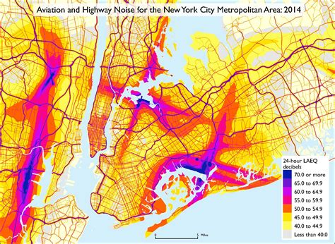 nyc traffic map noise pollution is worse in jersey than nyc according to new dot map 6sqft