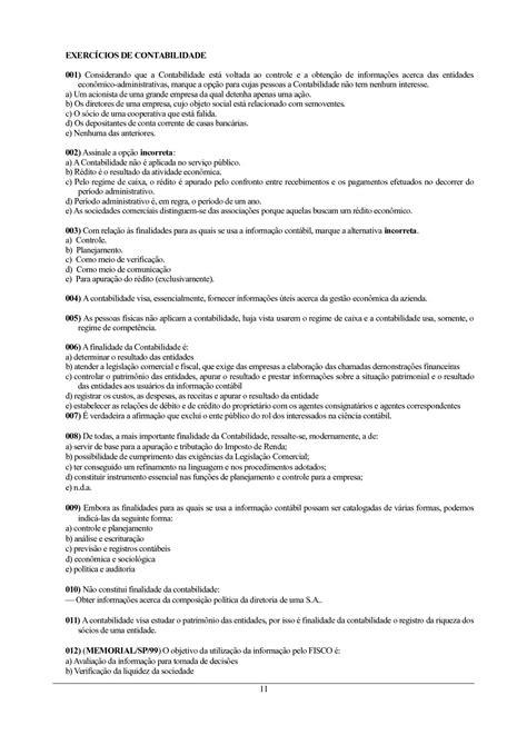 Calaméo - 1000 Exercicios de Contabilidade com gabarito