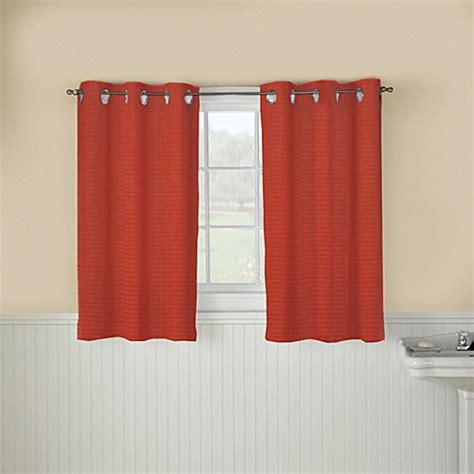 hookless window curtains buy hookless 174 waffle 45 inch window curtain in brick from