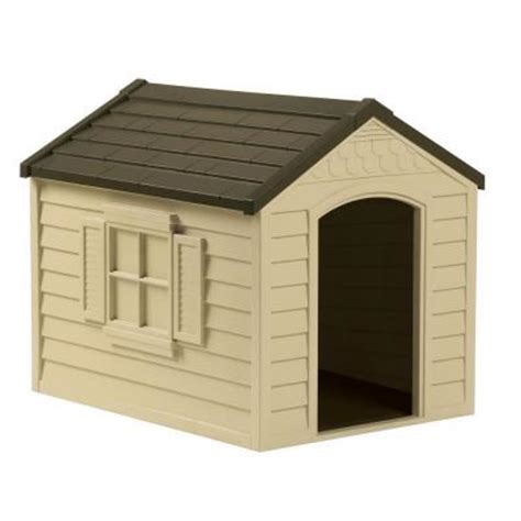 home depot dog houses 27 in w x 35 in d x 29 5 in h dog house dh250 the home depot