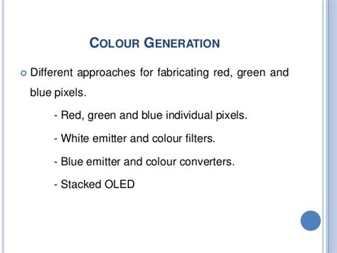 organic light emitting diodes paper presentation oled technology seminar ppt
