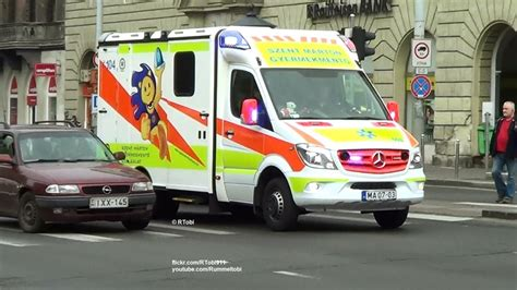 Lu Led Ambulance budapest ems children s ambulance responding dual siren 2 tone wail yelp hu 13 4 2017