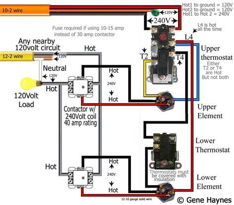 wiring diagram contactor lighting